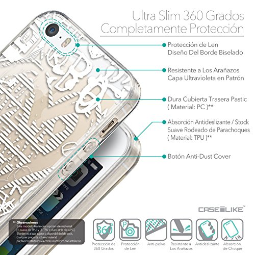 CASEiLIKE Comic Beschriftung 2914 Ultra Slim Back Hart Plastik Stoßstange Hülle Cover for Apple iPhone 5G / 5S +Folie Displayschutzfolie +Eingabestift Touchstift (Zufällige Farbe) 2730