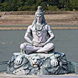 lunaprint Shiva Statue in Rishikesh India Asia Home Decor Art Wall Poster 43 X 43 cm