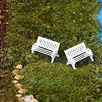 Soxid (TM) Bianco Panchina Sedile Moss bottiglia Micro Ecologia dei paesaggi accessori perfetti per qualsiasi Miniature Garden fata Mondiale 2016 Nuovo