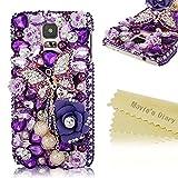 Maviss Diary 3D Handmade Luxus Bling Schmetterling Blumen Design Kristall Glitter Diamant Bling Strass PC Harte Rücksei