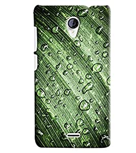 Blue Throat Waterdrop On Leaf Printed Designer Back Cover/ Case For Micromax Unite2 (A106)