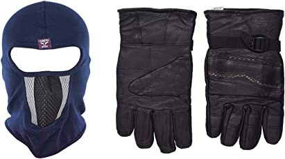 H-Store Balaclavas Mask Unisex Balaclava (Multi-Coloured) Filter Anti Pollution Dust Sun Protecion Face Cover Mask With Black Winter Gloves/ Bike Gloves/ Biker Gloves/ Motorcycle/ Bike Racing/ Riding/ Gym / Fitness / Full Fingers Gloves Best Grip For Men Women