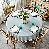 SONGHJ : Cubierta de la Mesa Redonda Fiesta de Bodas Hotel Mantelería Mantelería de Lino de algodón Decoración para el hogar Gris Café Azul Diámetro 65 cm