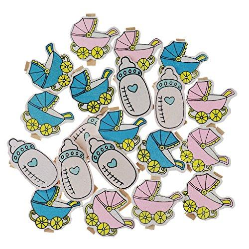 Sharplace 20 Stk Holzwäscheklammer Farbig Wäscheklammer Klammern für Fotopapier Kleiderroller - Baby Dusche, 20 Stück (Wäscheklammern Für Baby-dusche)