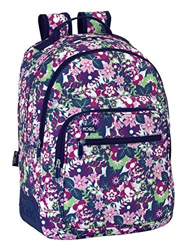 Safta Moos-tot Flores Mochila Doble Adaptable, Color Violeta