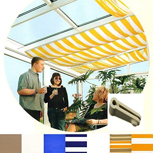Sonnensegel für Seilspannmarkise Pergola Wintergarten Beschattung Laufhaken , Farbe Größe:Weiß...