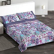Burrito Blanco - Juego de Sábanas 095 para cama 150x190/200 cm, color azul