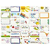 Best Paper Greetings 60 Stück Lunch Box Noten – Colorful Inspirierend und Motivational Karten für Kinder, 5,1 x 9,4 cm