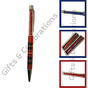 Scottish Red Royal Stewart Tartan Slim Souvenir Office Ballpoint Pen