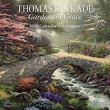 Thomas Kinkade Gardens of Grace With Scripture 2020 Wall Calendar