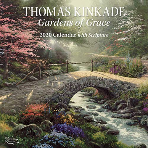 Thomas Kinkade Gardens of Grace With Scripture 2020 Wall Calendar par Thomas Kinkade