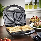 from VonShef VonShef 3 in 1 Sandwich/ Panini Maker, Waffle Iron & Grill with Removable Plates - 700W - Stainless Steel
