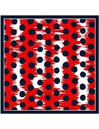 TigerTie multa seda paño-nicki satén en lunares modelada - tamaño paño: ca. 50 x 50 cm