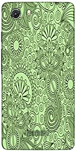 Snoogg Fabric Pattern Light Green Designer Protective Back Case Cover For Mic...