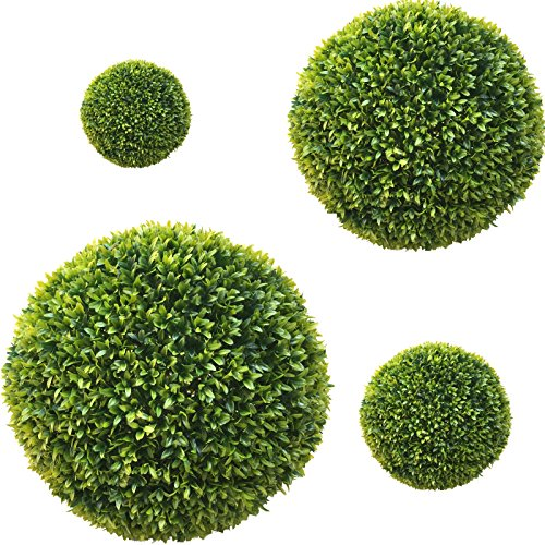 TLC 2 x 20 cm Ø künstliche Buchsbaumkugel, Spar – Set, EDEL LIGUSTER – sehr natürlich wirkend