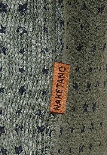 Naketano Male Sweatshirt Tinte Aufm Füller III Heritage Forrest Melange