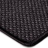 Premium Sisal Teppich Läufer in zahlreichen Größen | anthrazit | mit modern-rustikaler Tiger-Eye-Struktur | kombinierbar mit Stufenmatten (Größe: 80x250 cm)