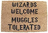 Harry Potter Wizards Welcome Muggles Tolerated Welcome Fußmatte