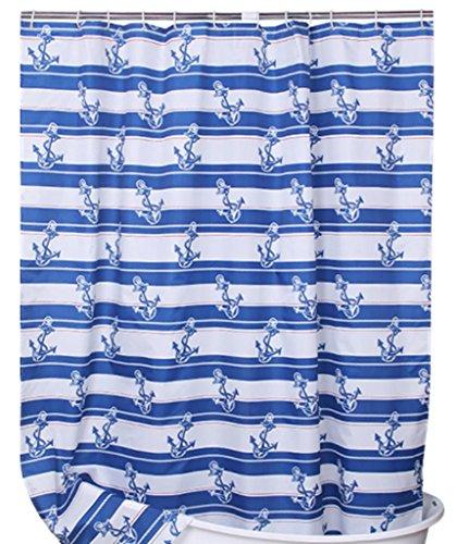 GYMNLJY Polyester Stripe addensare impermeabile tende da doccia Bagno Decorazione