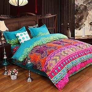 unimall luxus feinbiber bettw sche set modern b hmen boho exotisch 100 microfaser baumwolle. Black Bedroom Furniture Sets. Home Design Ideas