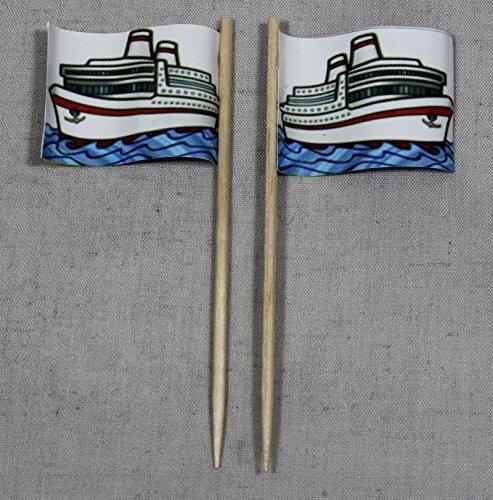 Party-Picker Flagge Schiff Papierfähnchen in Spitzenqualität 50 Stück Beutel (Flagge Schiffe Für)