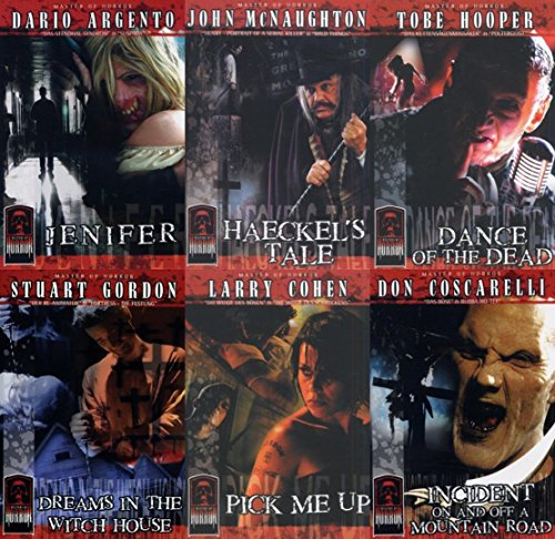 Preisvergleich Produktbild 06x MASTERS OF HORROR Collection JENIFER * HAECKELs TALE * DREAMS IN THE WITCHHOUSE * INCIDENT ON AND OFF A MOUNTAIN ROAD * DANCE OF THE DEAD * PICK ME UP * DVD Edition