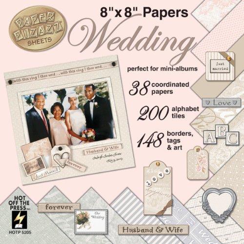 Hot Off The Press 20,3x 20,3cm Hochzeit Papier Pizazz Papier und Akzente, mehrfarbig