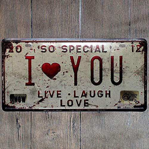 Lumanuby 1x Schäbig Stil Deko Wandschild von Lebens Slogan oder Porträt von Mädchen Metallschild für Zuhause Bar Café Esszimmer Billard-Haus Hotel oder Club 15 * 30cm (Ich