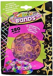 Rainbow Bands Bandas del arco iris - Paquete Elásticos, 1 sobre de 280 piezas, colores surtidos