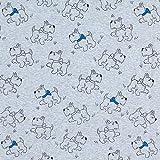 Fabulous Fabrics Alpenfleece Terrier – blau — Meterware ab 0,5m — zum Nähen von Kinderbekleidung und Sweatshirts