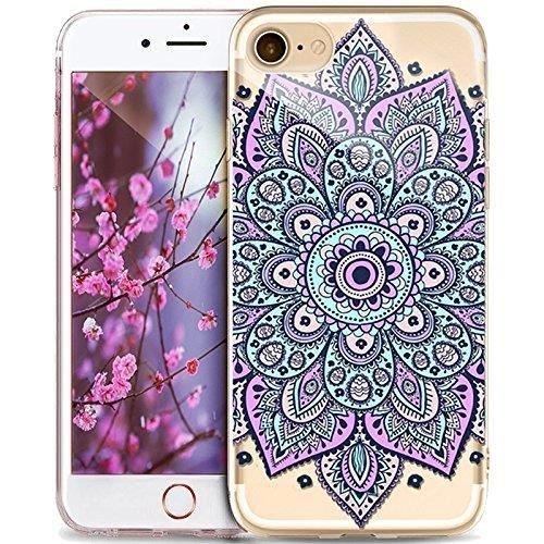 Coque iPhone 6 6s Housse étui-Case Transparent Liquid Crystal Mandala en TPU Silicone Clair,Protection Ultra Mince Premium,Coque Prime pour iPhone 6 6s-style 6 style 6