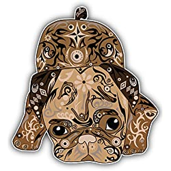 Pegatina de Vinilo Patterned Pug Dog Puppy