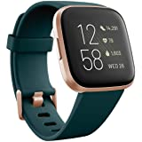 Tillbehör Fitness per Cellulare Fitbit Versa 2 - Verde Smeraldo/Alluminio Rame Rosa