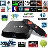 Zenoplige M8S Plus Smart Android TV Box 2G/16G Amlogic S812 Kodi 16.0 Preinstalado Cargado Completamente Addons XBMC Quad Core Doble Banda 2.4G/5G WIFI TV 4K Blu Ray Streaming reproductor multimedia