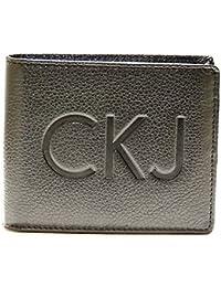 Billetera de cuero de hombres negro de CHK102 PFJ00 coronel 999 a. CK CALVIN KLEIN JEANS