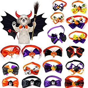 SimpleMfD 8 Pcs/lot Assortiment De Vacances Petit Chien Cou Noeud Papillon pour Festival Party Pet Chiot Chats Cravates Collier Costume d'halloween