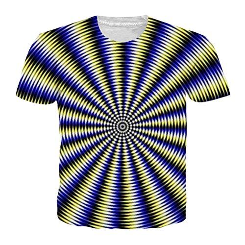 Black and White Vertigo Hypnotic Druck T-Shirt Unisex Kurzarm T-Stücke Männer Frauen Tops (15 Black Inkjet)