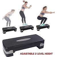 FITSY® Workout Step Platform Aerobic Stepper Board with Adjustable Height 15 cm, Black