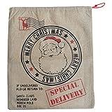 gigante marrone in iuta coulisse calza di Babbo Natale Santa Sack 58,4x 48,3cm