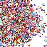 Multi Formen Glitter Konfetti Bunt Pailletten für DIY Handwerk, Nagelkunst und Dekoration, Mehrfarbig, 100 Gramm