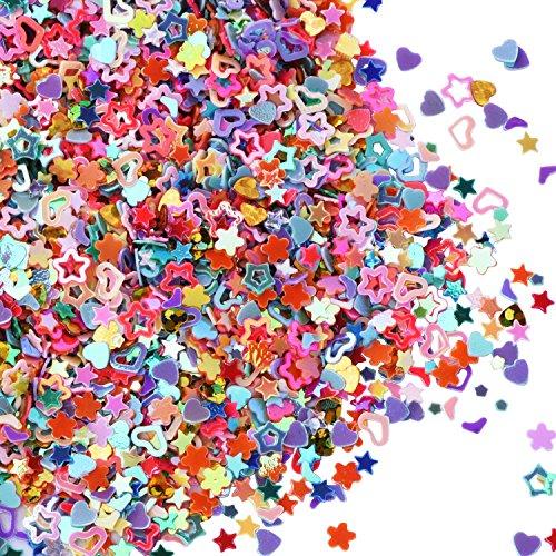 Confeti Brillante Multi-formas Lentejuelas Coloridas