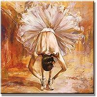 Siete pared artes – estirada y enmarcado pintura personas la niña en la danza Ballet listo
