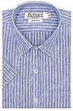 #10: Arihant Men's Striped Half Sleeves Reguler Fit Cotton Linen Formal Shirts