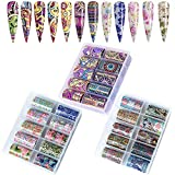 Kalolary 30 Rolls Blumen Nagelfolien Aufkleber, Nail Art Transferfolie Nagelsticker Nailart Folie Nail Wraps Transfer Aufkleber Kit Nagelfolie Nagelfolie Transfer Sticker Nageldesign
