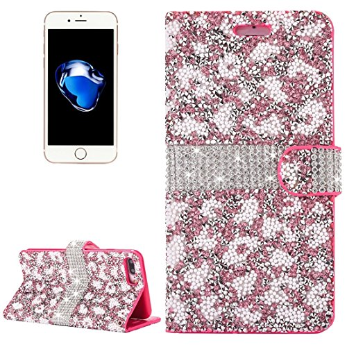 Hülle für iPhone 7 plus , Schutzhülle Für iPhone 7 Plus Jelly Drill Horizontal Flip Leder Schutzhülle mit Halter & Card Slot & Wallet & Photo Frame ,hülle für iPhone 7 plus , case for iphone 7 plus (  Pink