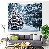 Lucky Store Arazzo di Natale da appendere a muro inverno albero di tema natalizio telo mare decorazione multi-size, 229x150cm