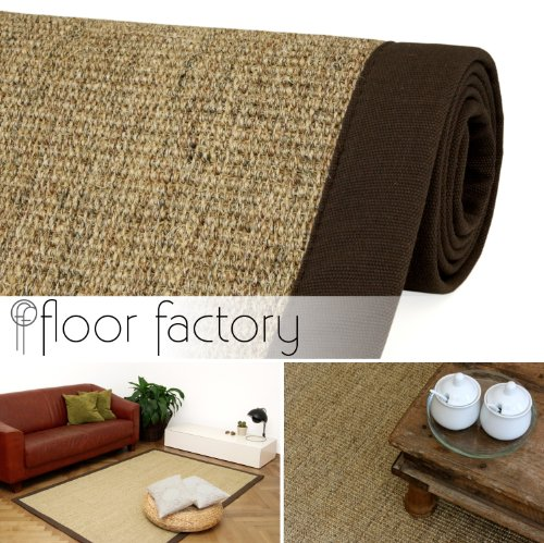 Natural Fibre Sisal Rug natural/brown 140x200 cm (6'7