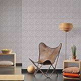 AS Creation Oslo Kachel Muster Tapete Faux-effekt Art Deco Küche Badezimmer - Grau 329802