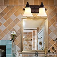 Prima della Continental American Iron lampada da parete del bagno