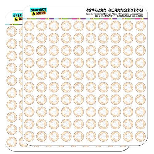 Marshmallow Blatt (Süße Marshmallows Candy 1,3cm (1,3cm) Scrapbooking, Aufkleber)